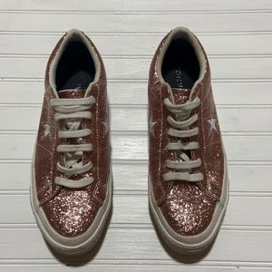 Converse   Pink Glitter Sneakers 8